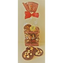 Sachet de palets chocolat noir aux brisures de bretzels 140gr