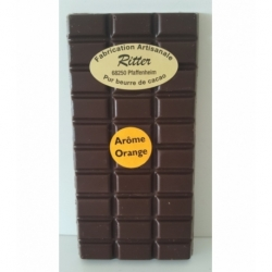 Tablette chocolat noir arôme orange 100gr