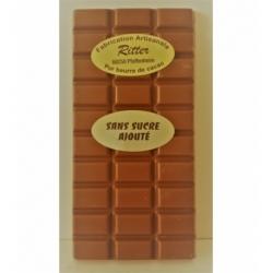 Tablette chocolat lait sans sucre ajouté 100gr