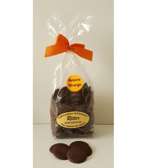 Pastilles chocolat noir arôme orange 140gr
