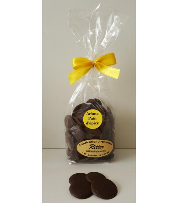 Pastilles chocolat noir arôme pain d'épice 140gr