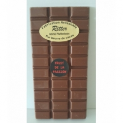 Tablette chocolat lait arôme fruit de la passion 100g